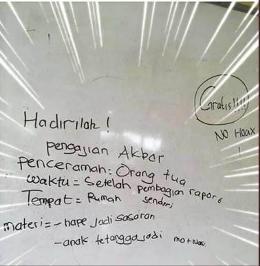 Viral tulisan anak SD soal pengajian akbar, isinya bikin geleng kepala