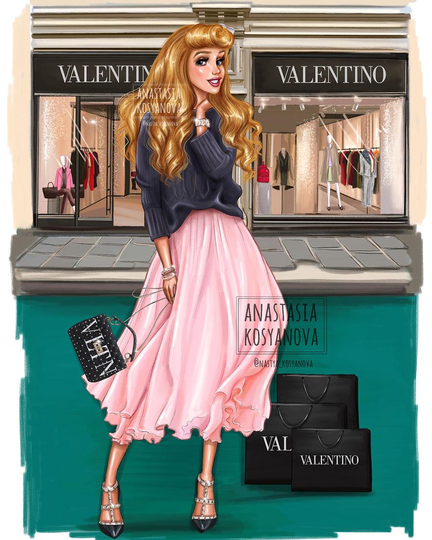 19 Potret Putri Disney jika mengenakan fashion bermerek, glamor abis
