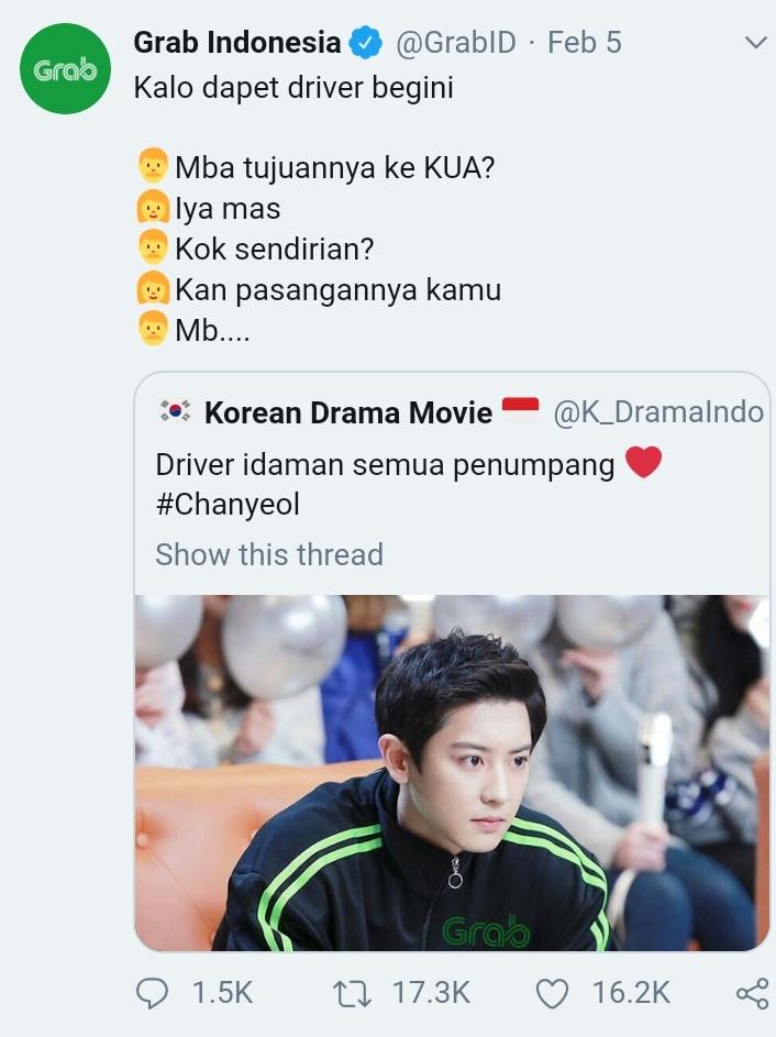 Foto Chanyeol EXO pakai jaket hijau-hitam ala ojol bikin fans terkesan