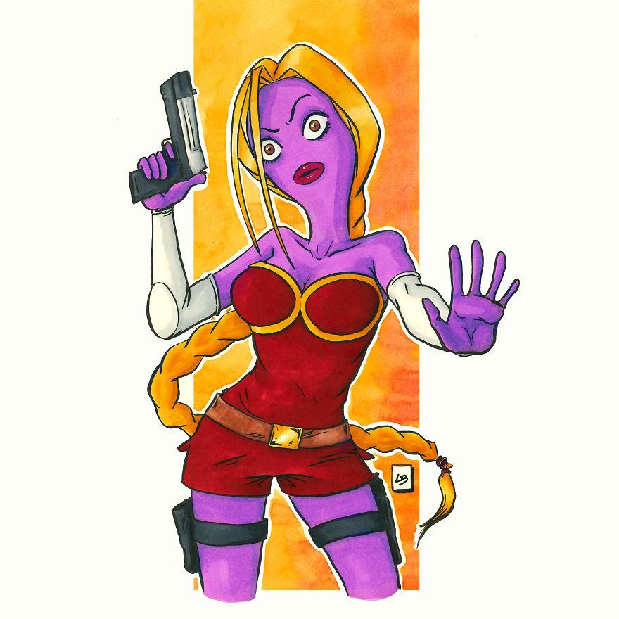 10 Kolaborasi tokoh kartun ini menjadi karakter baru yang super keren