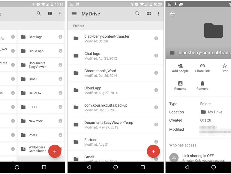 Tampilan Aplikasi Google Drive