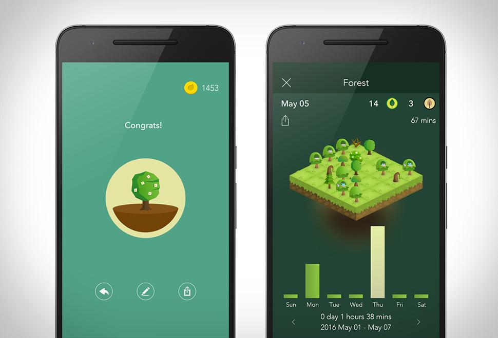 Tampilan Aplikasi Forest