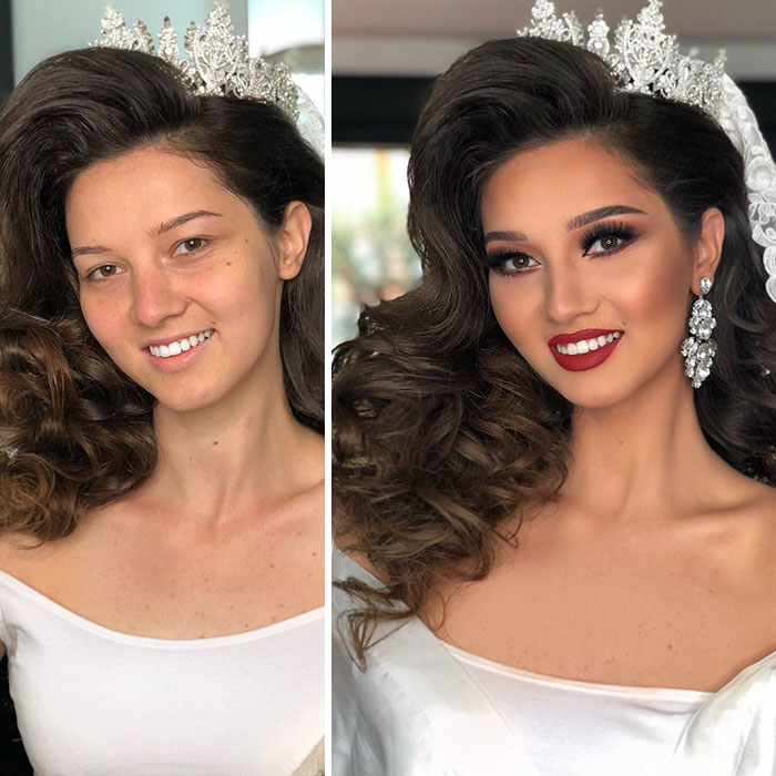 11 Inspirasi make up yang masih menonjolkan fitur wajah pengantinnya