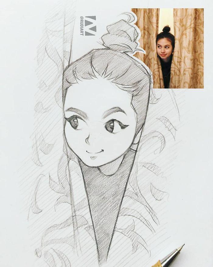 14 Sketsa wajah ini dibuat oleh seniman Indonesia, bak ...