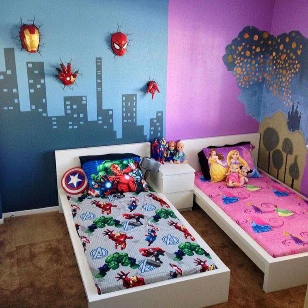 14 Desain Kamar Tidur Anak Yang Digunakan Bersama Unik Nya
