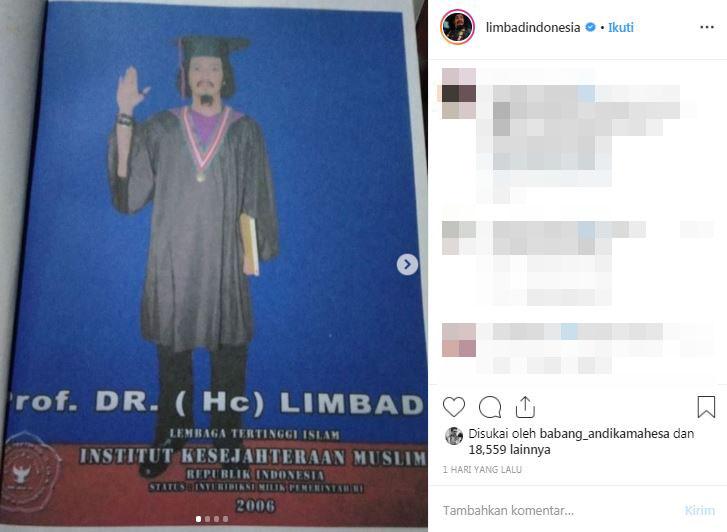 Heboh gelar profesor Limbad, 5 artis ini pun bergelar akademik tinggi