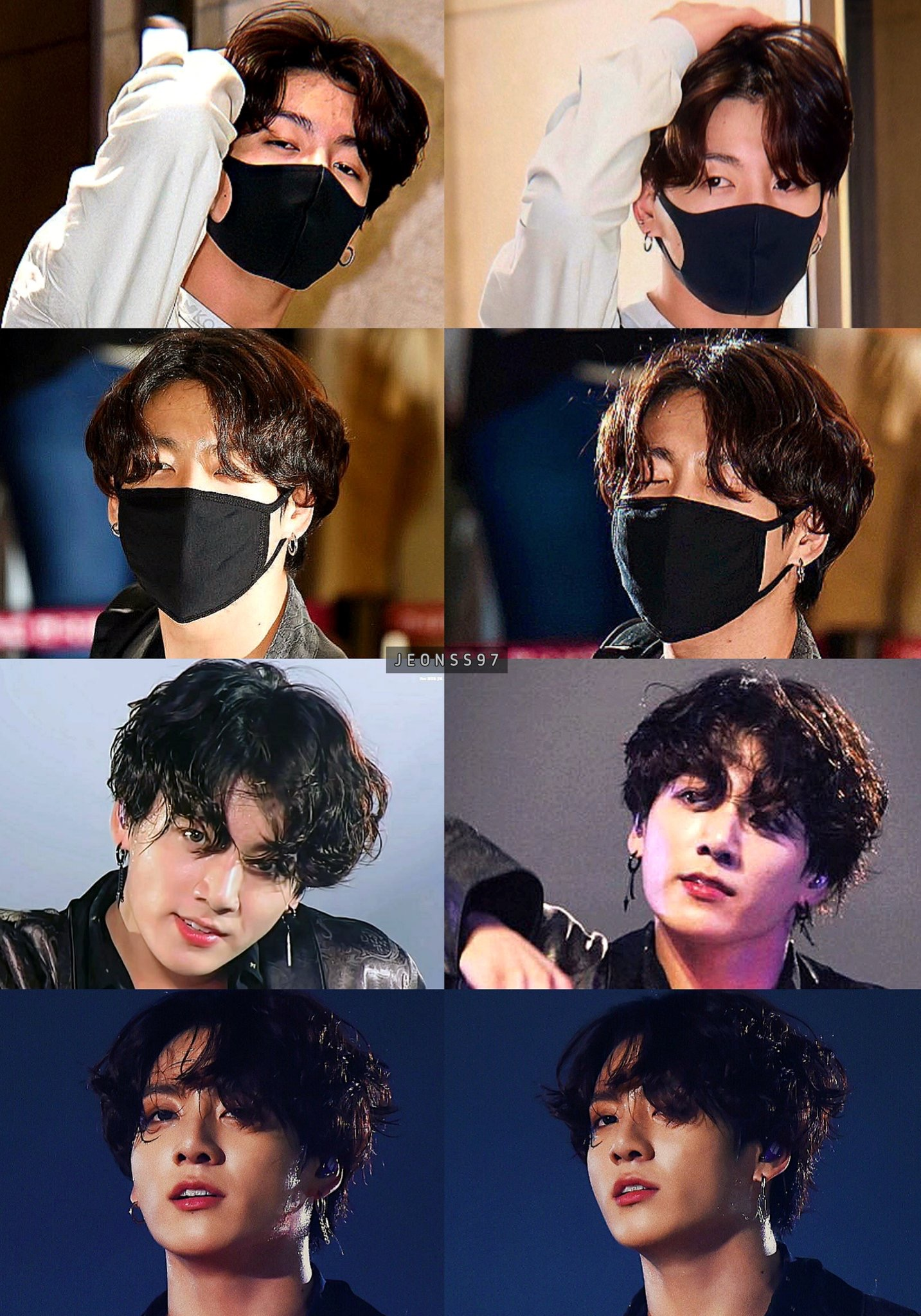 9 Potret gaya rambut baru Jungkook BTS, bikin fans makin jatuh hati