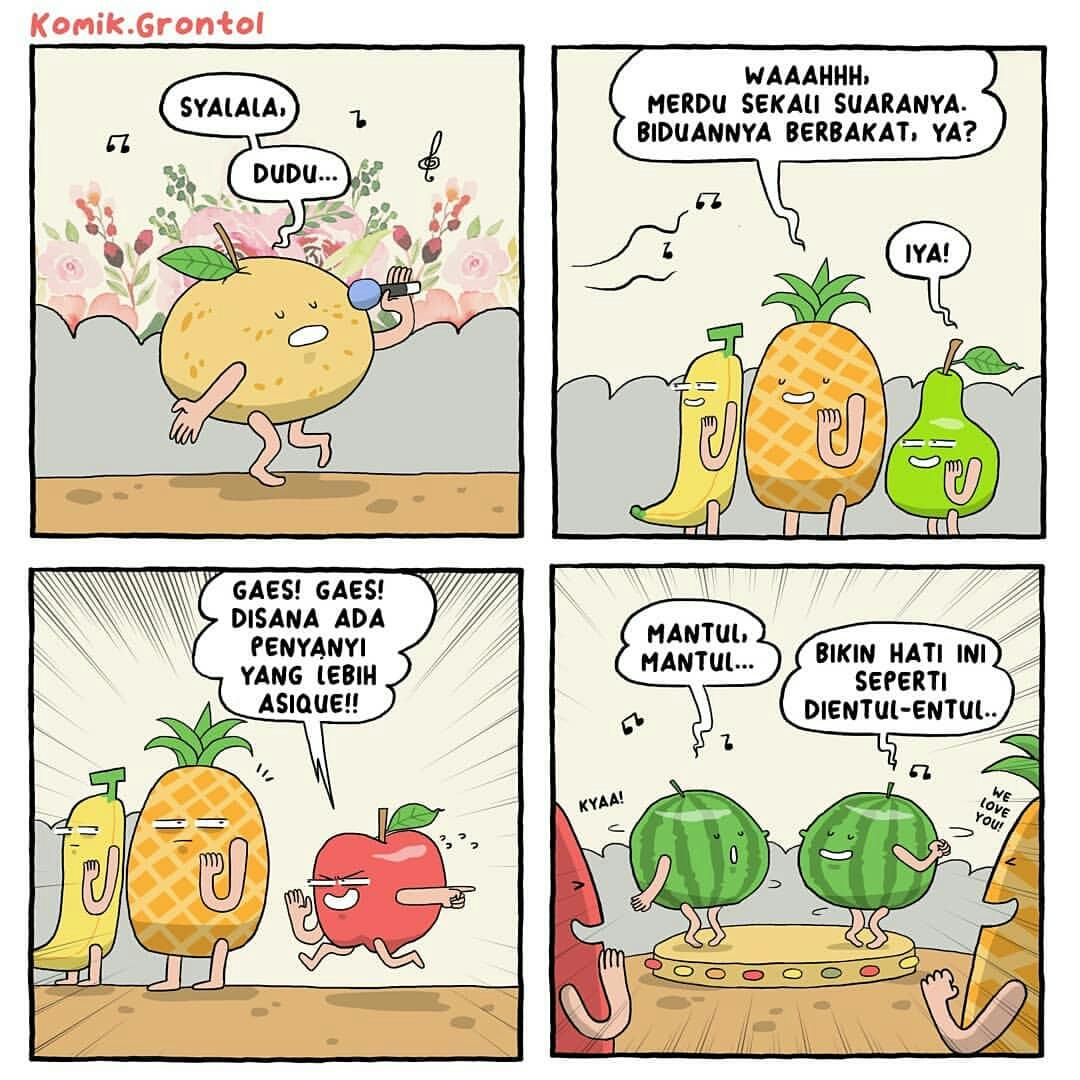 7 Komik Strip Tentang Buah Ini Bikin Senyum Langsung Mengembang