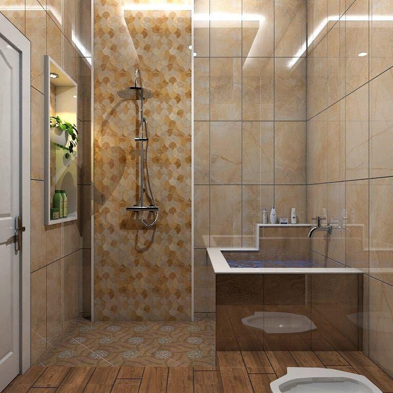 10 Desain kamar mandi mungil dan minimalis ini layak jadi ...