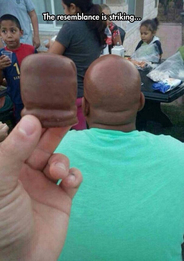 7 Foto orang berkepala botak ini bikin gagal fokus