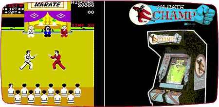 2 Nenek moyang game pertarungan: Karate Champ & Yie Ar Kung Fu