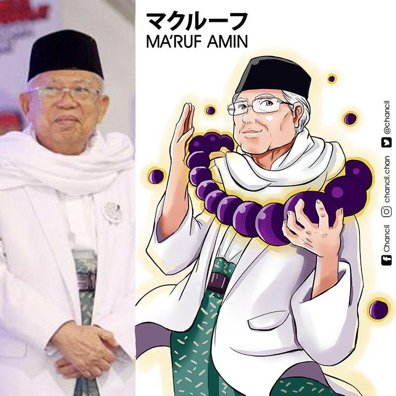 publik figur Indonesia versi anime karya Chancil