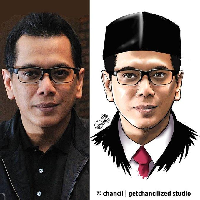 Ilustrasi publik figur Indonesia versi anime karya Chancil