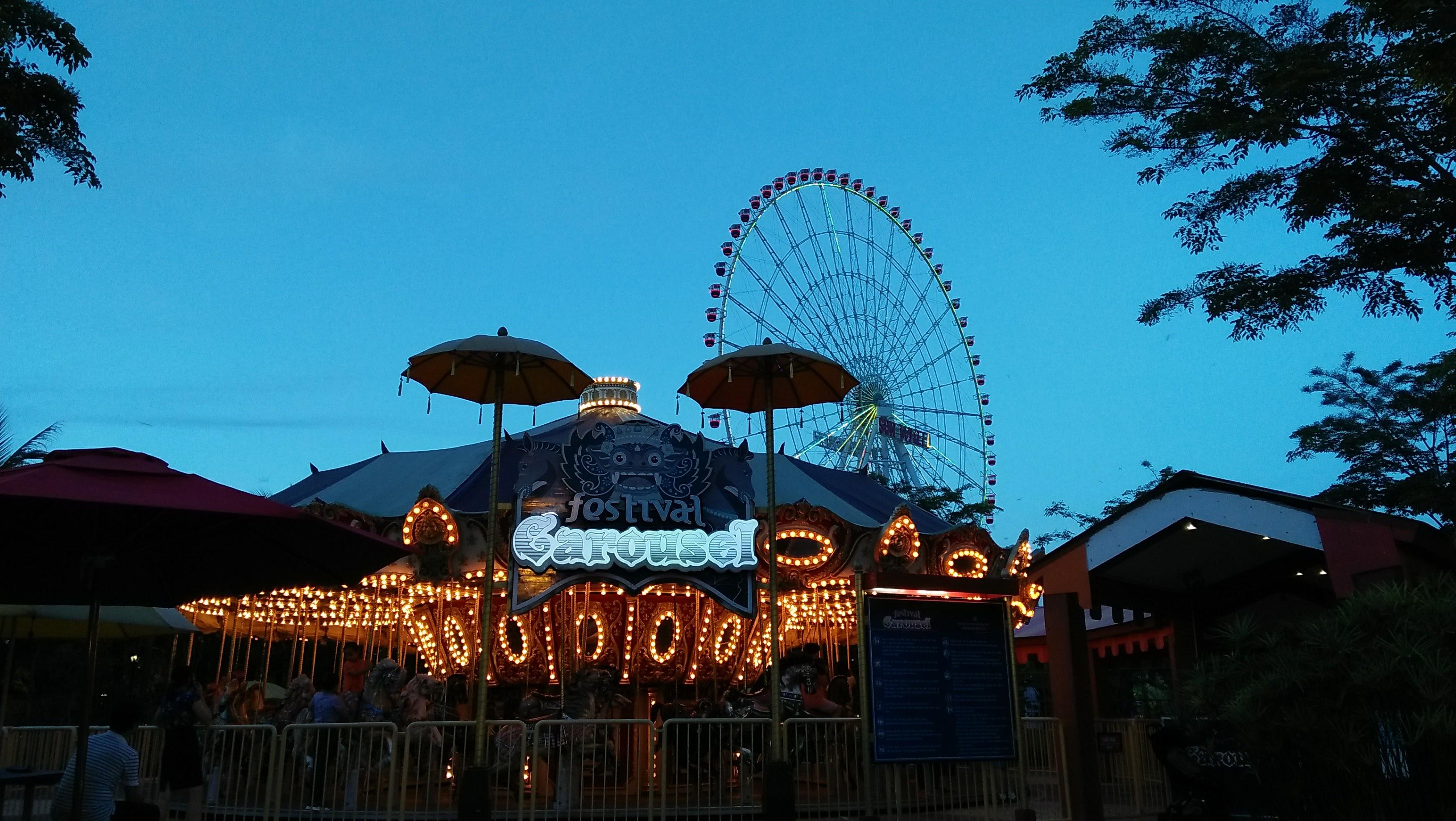 Salah satu carousel di Asia Park