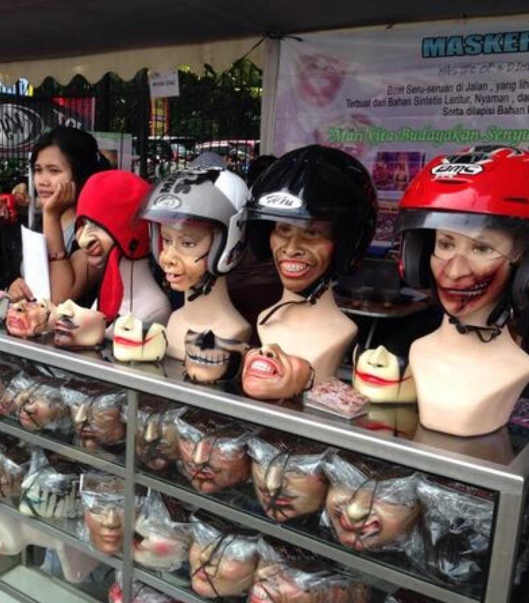 9 Masker berbentuk nyeleneh ini bikin tepuk jidat, uniknya kebangetan