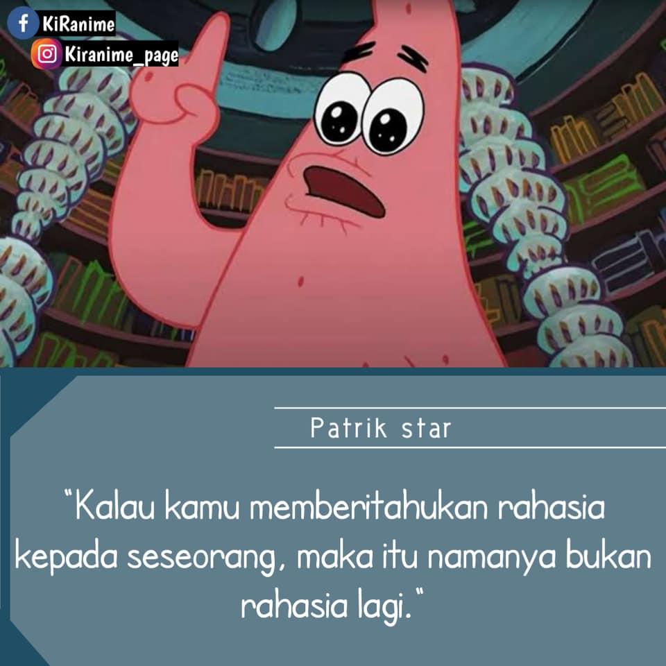 Terkesan konyol, 13 kata-kata bijak Patrick Star ini bermakna dalam