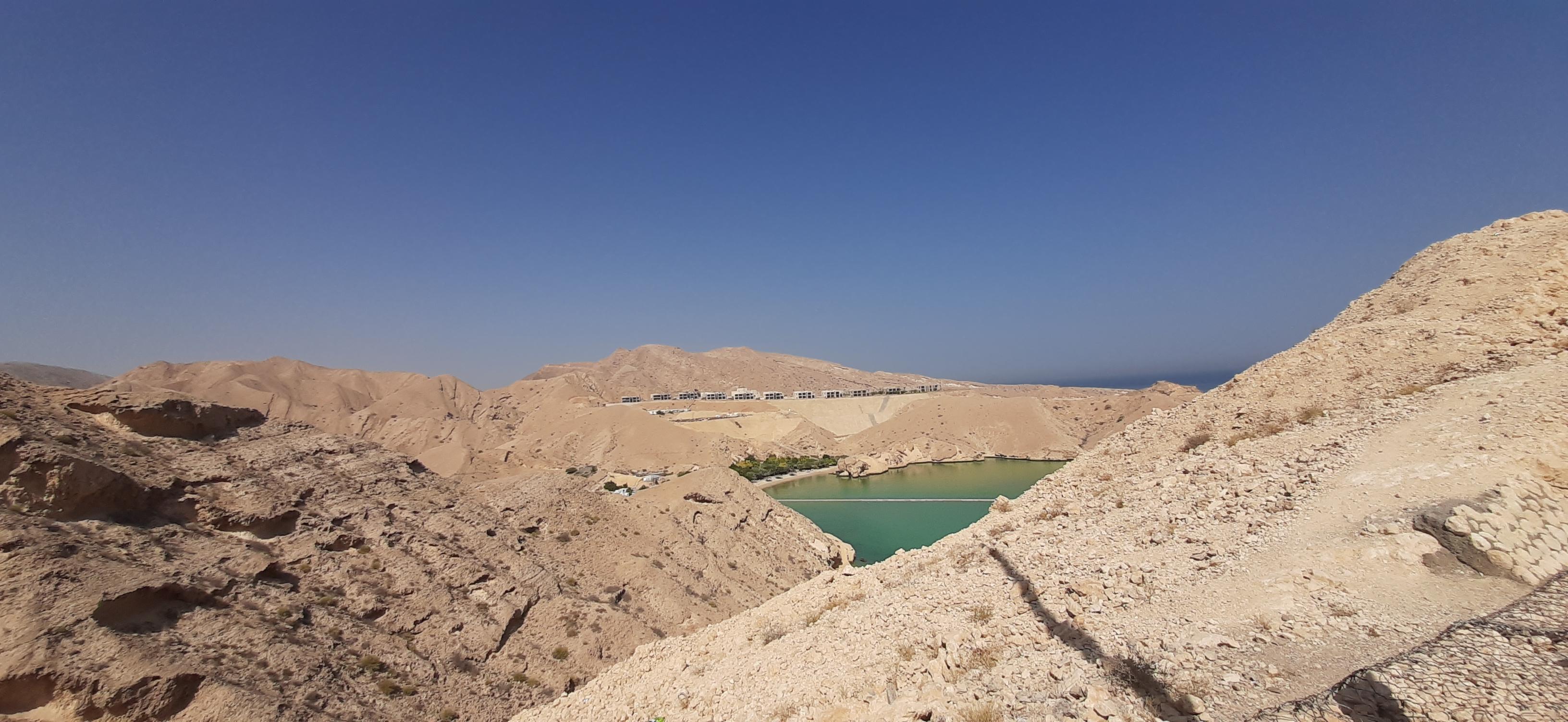 pemandangan dari Al-Hajar Mountains
