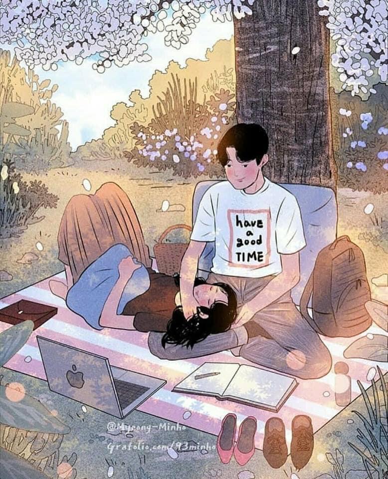 13 Potret pasangan dalam bentuk anime yang manis dan bikin baper