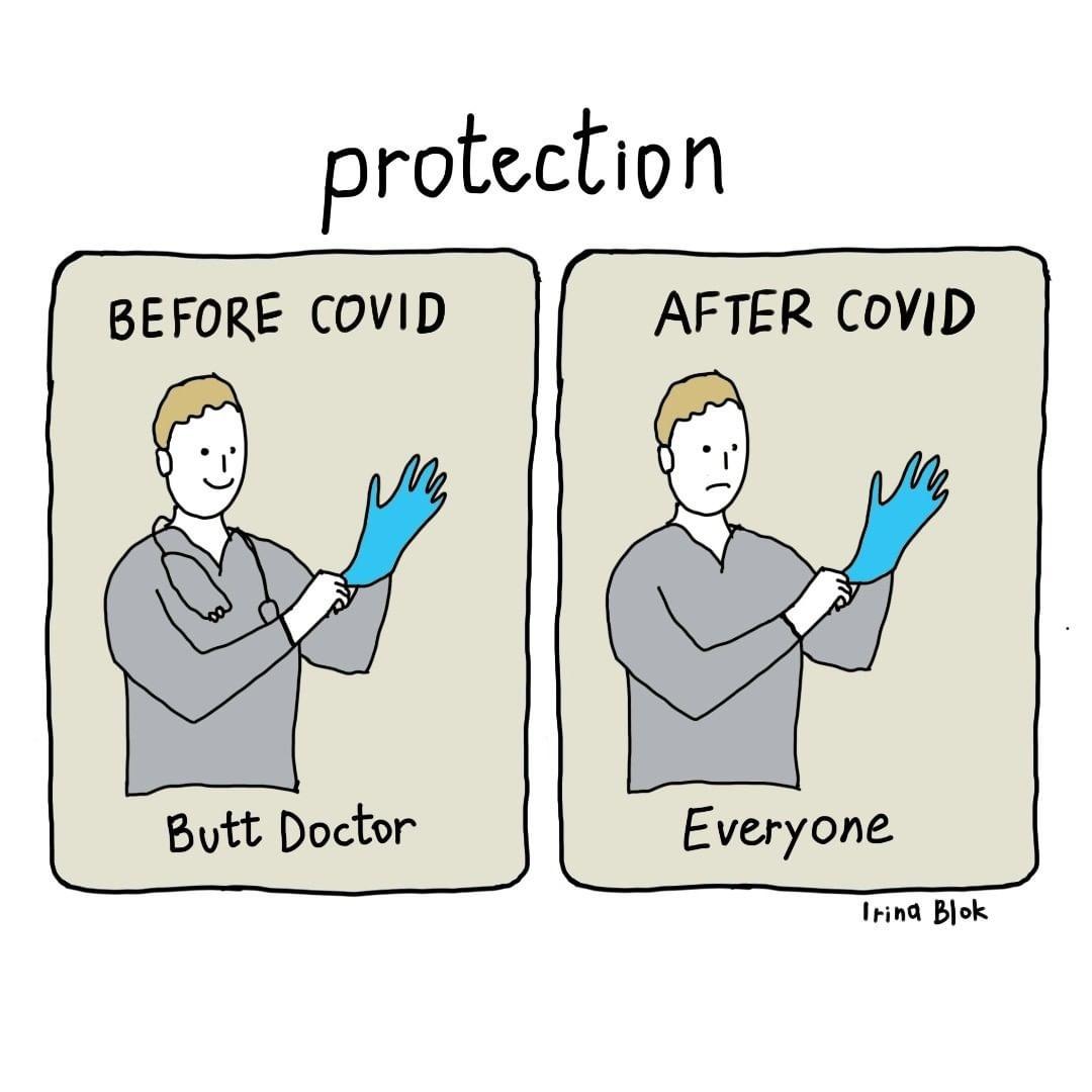 13 Kartun ini gambarkan kehidupan sebelum dan sesudah pandemi Corona
