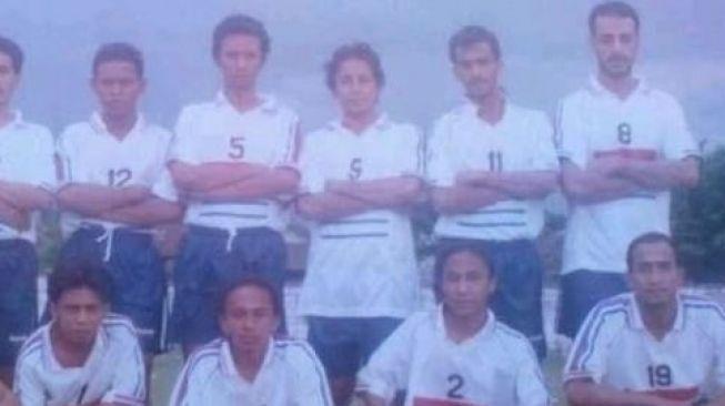 Syekh Ali Jaber saat berkostum sepak bola