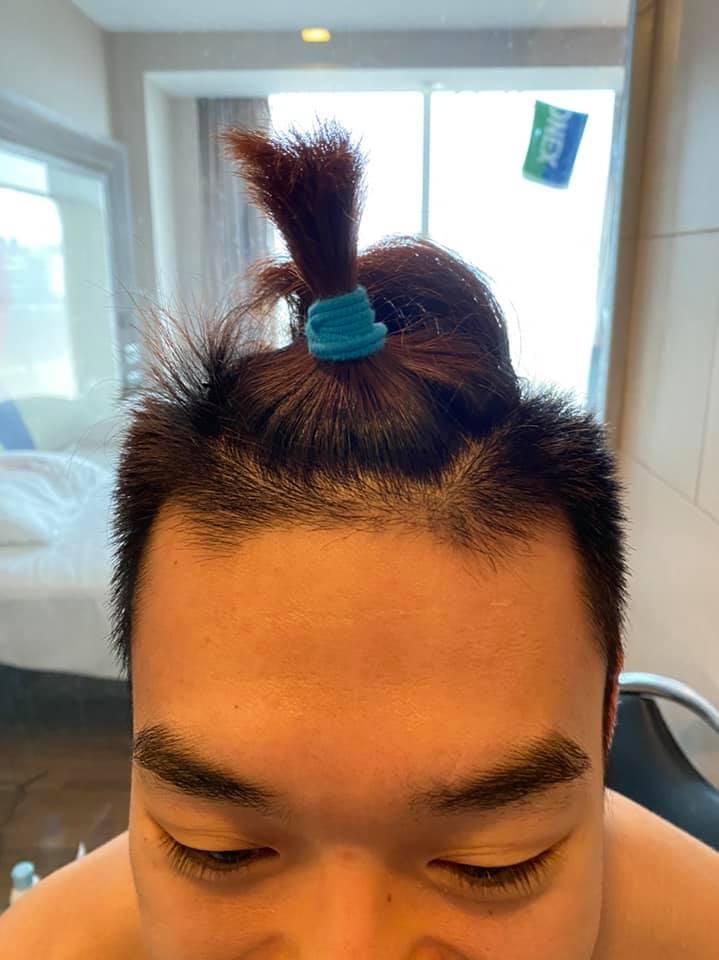 Rambut cepol Wang Chi-lin