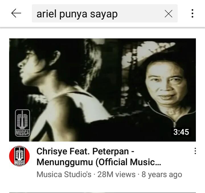 Pakai nama Ariel, ini 8 keywords kocak untuk cari judul lagu Peterpan