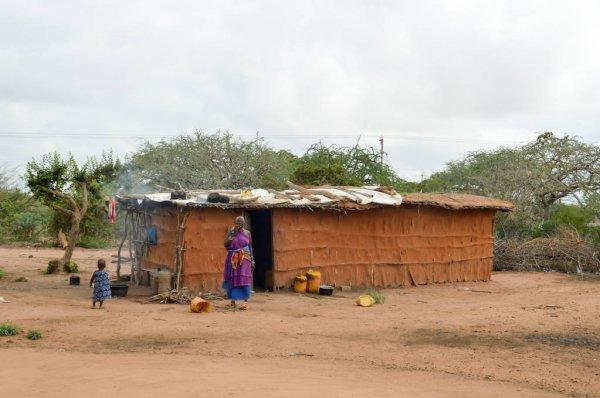 rumah suku maasai