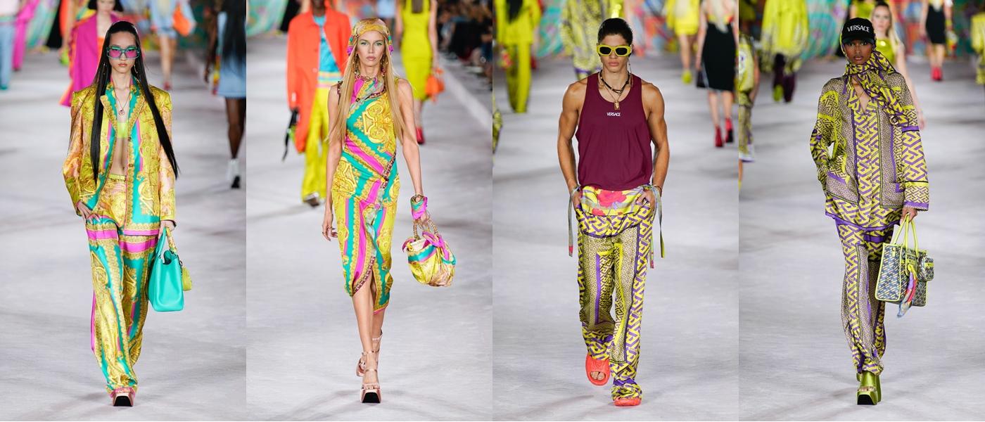 Intip gaya Dua Lipa di fashion show Versace