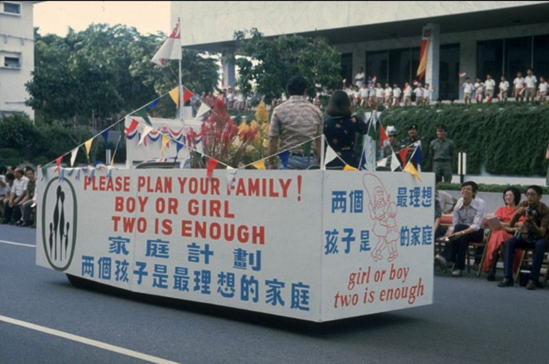 Kebijakan dua anak cukup PM Lee Kuan Yew  mirip program KB Indonesia