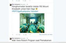 Teka-teki akun Twitter pengunggah foto hoax penghormatan untuk Olga