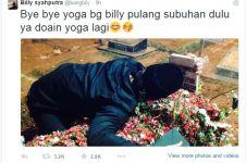 Kangen, Billy peluk batu nisan Olga Syahputra