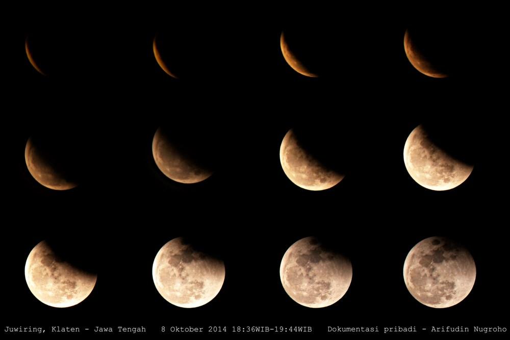 Ini 19 lokasi untuk kamu mengamati gerhana bulan total malam ini