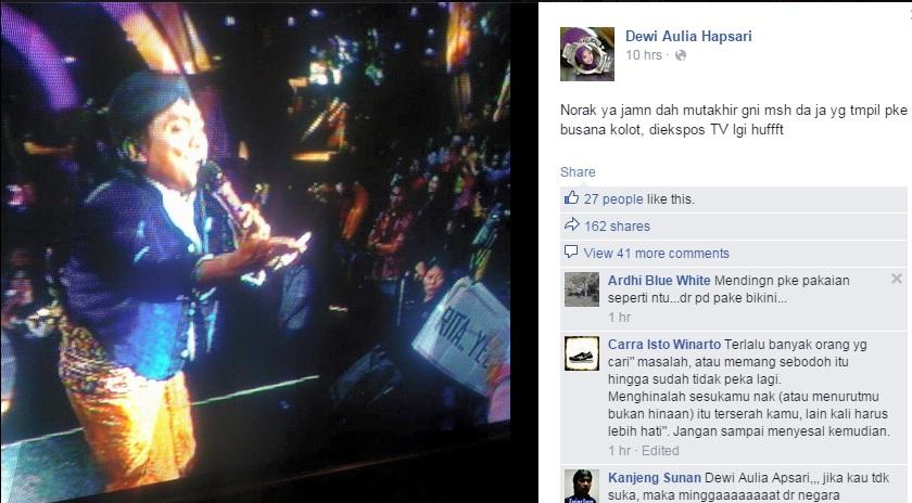 Hujat busana Jawa, Dewi dikecam netizen