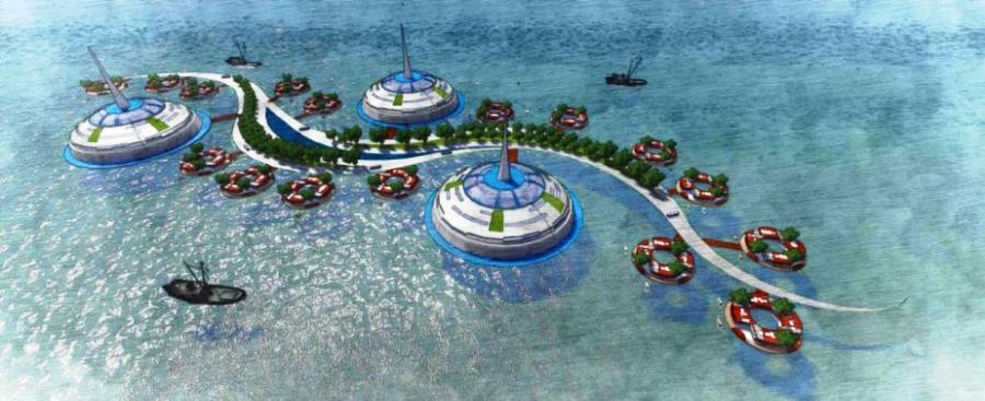 Surabaya bisa disulap jadi kota terapung di lautan, begini desainnya