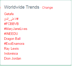Hastag #MaryJaneLives menjadi trending topic dunia