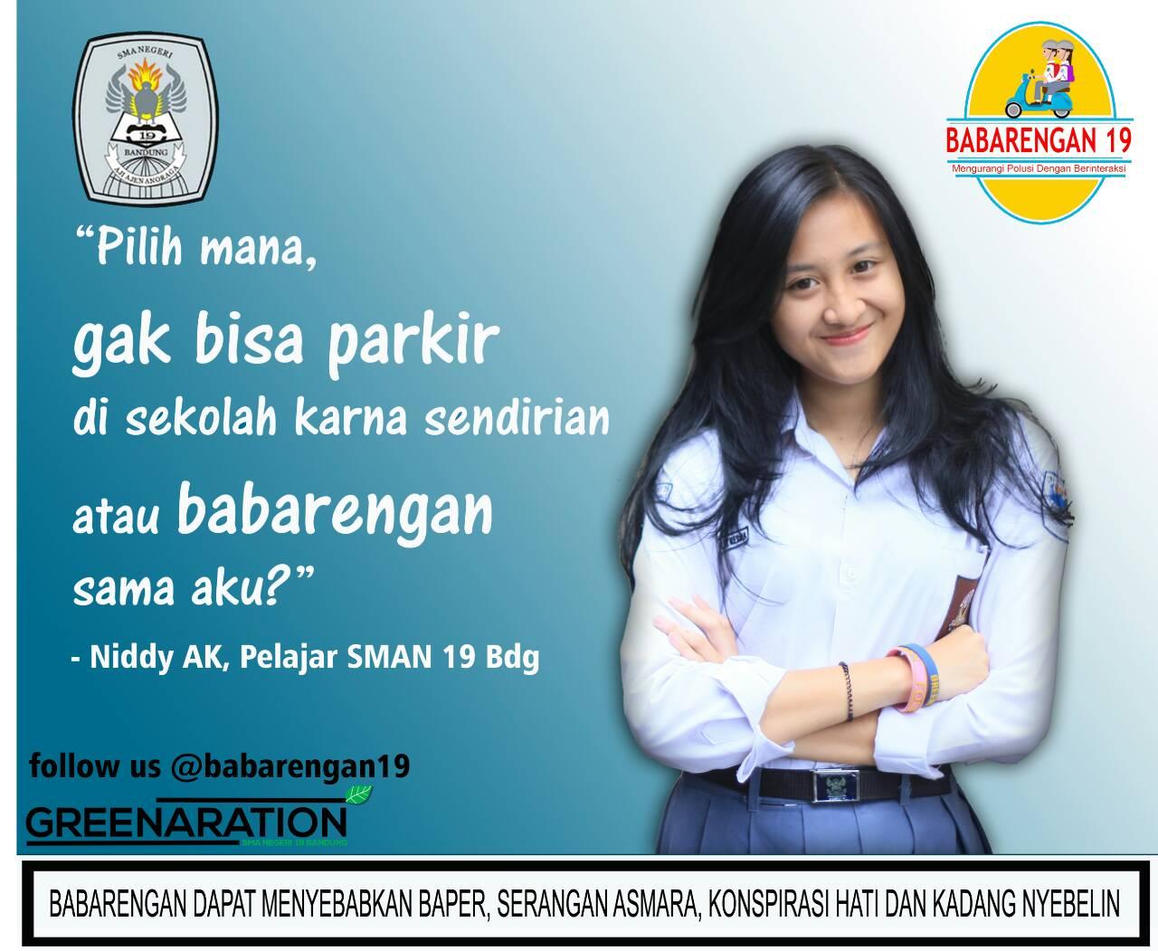 Kata Niddy Anak SMA 19 Bandung berangkat sekolahnya 'babarengan' aja