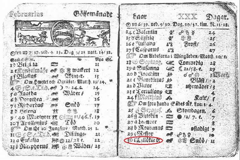 Ternyata dulu pernah ada tanggal 30 Februari, tapi di Swiss tahun 1712
