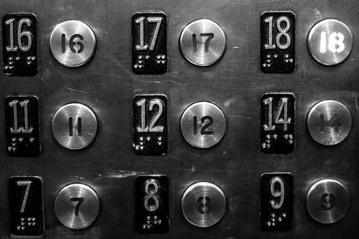 Kenapa tak ada angka 13 dalam lift? Ini jawabannya
