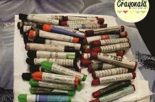 Dibuat dari sarang lebah, crayon ini aman jika tertelan anak-anak