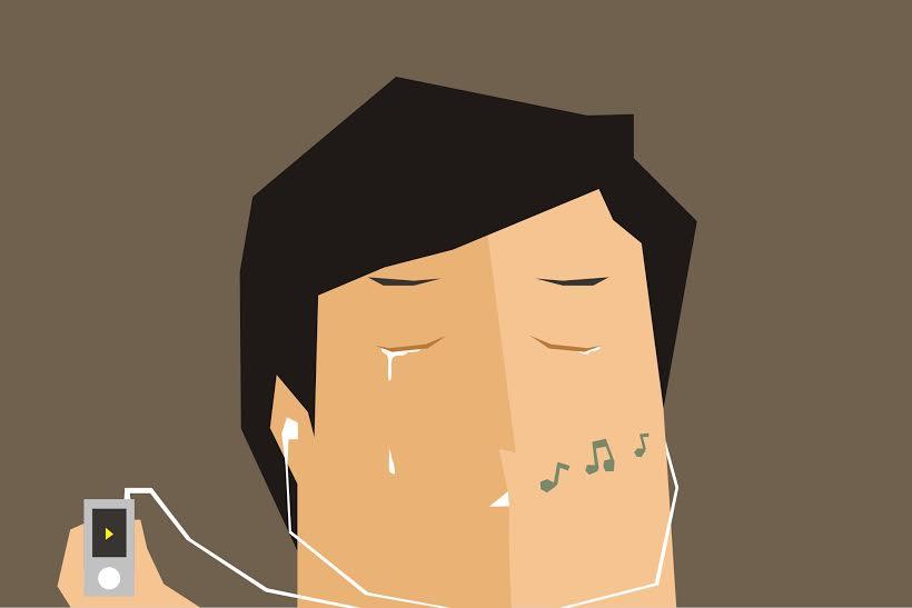 Nggak berarti cengeng, dengerin lagu galau justru bikin hati adem