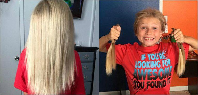 Bocah ini sumbangkan 25 cm rambutnya kepada penderita kanker, hebat!