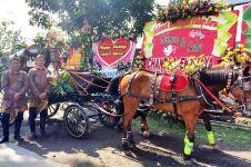 Agustin & Srikandi, kuda yang mengantar mempelai wanita Selvi Ananda