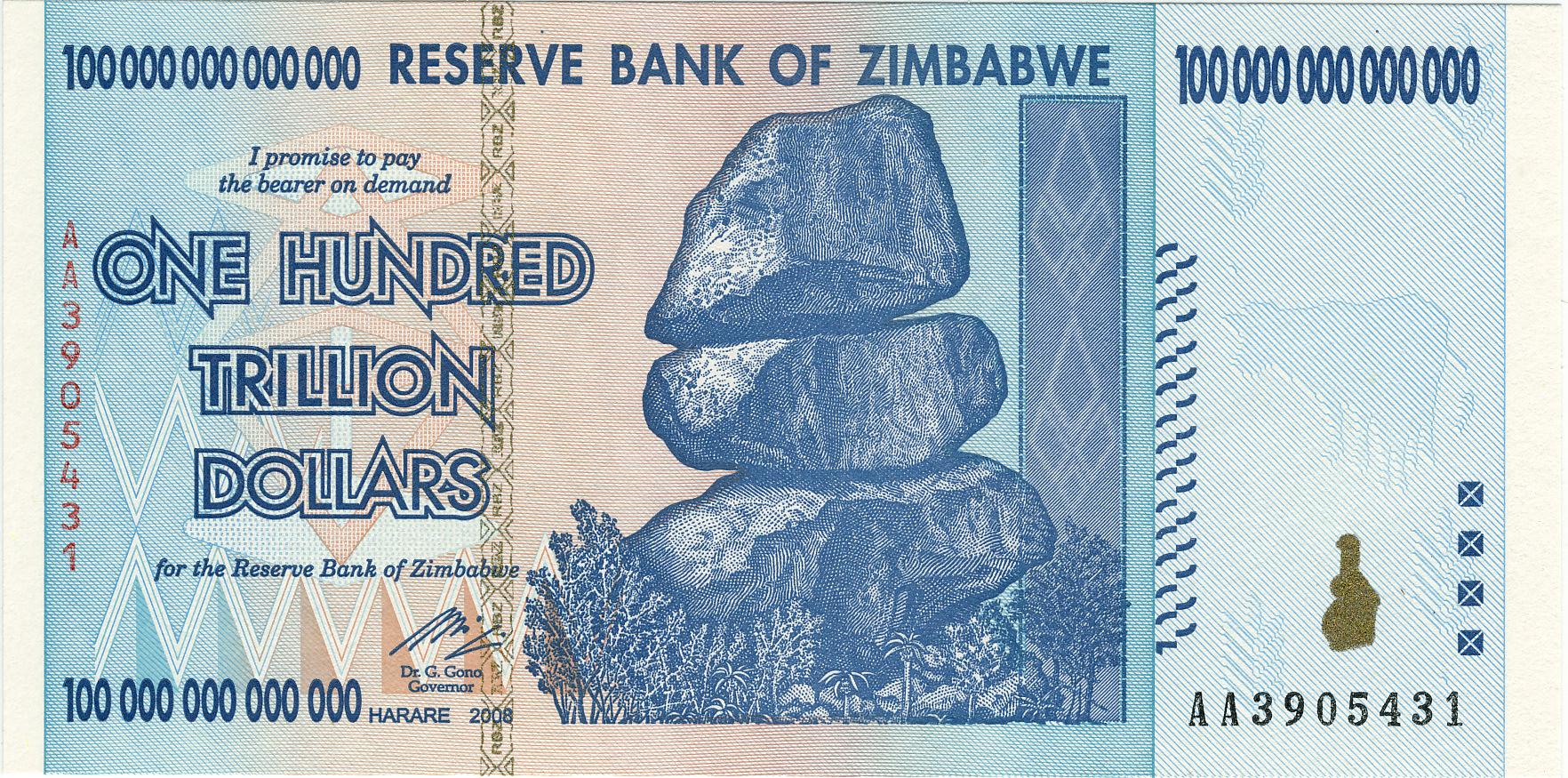 Di Zimbabwe, bakso 1 mangkuk + teh botol harganya 35 Ribu Triliun