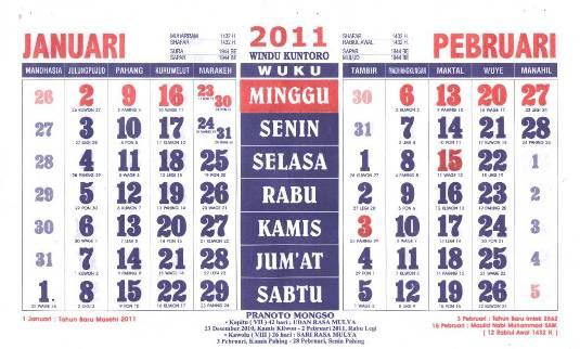 Ini kenapa bulan dalam kalender Jawa mirip dengan kalender Hijriyah