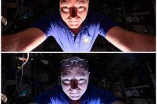 Selfie dari dalam pesawat luar angkasa, wah, wah!