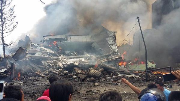 Kecelakaan Hercules ingatkan tragedi Mandala Airlines  10 tahun silam