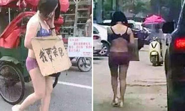 Diduga selingkuh, istri diarak semi telanjang suaminya di jalanan umum
