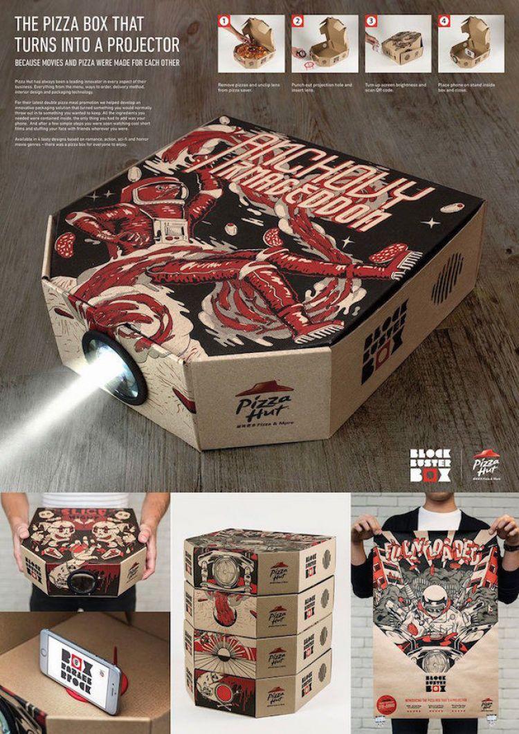 Kotak pizza ini bisa berubah menjadi proyektor film, wow!