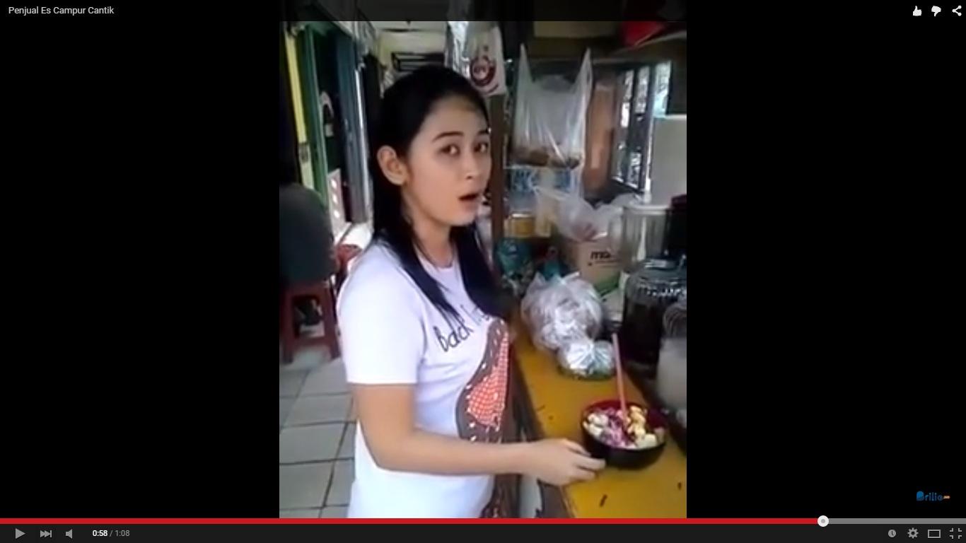 VIDEO: Terungkap, ini identitas penjual es campur cantik, Nur Fitriani