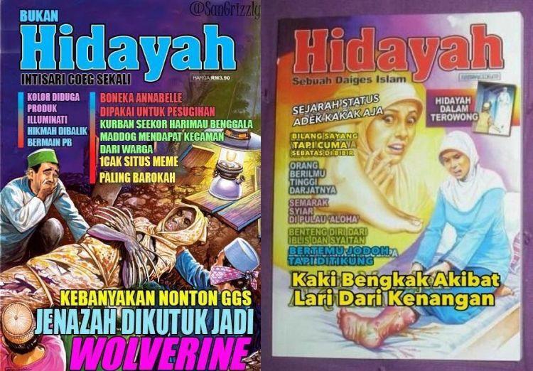 13 Plesetan cover majalah Hidayah ada ada saja parodinya